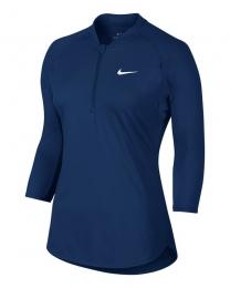Nike Maglia Pure Top con Zip e Manica 3/4 Donna
